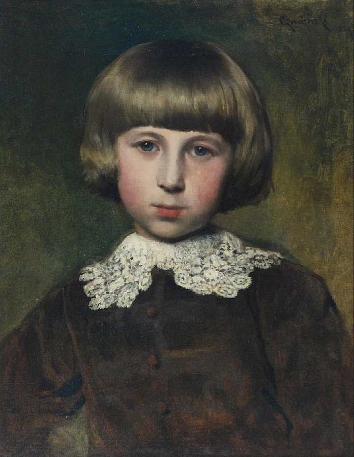 Портрет Владки. 1879,Чахурский, Владислав(1850-1911)
