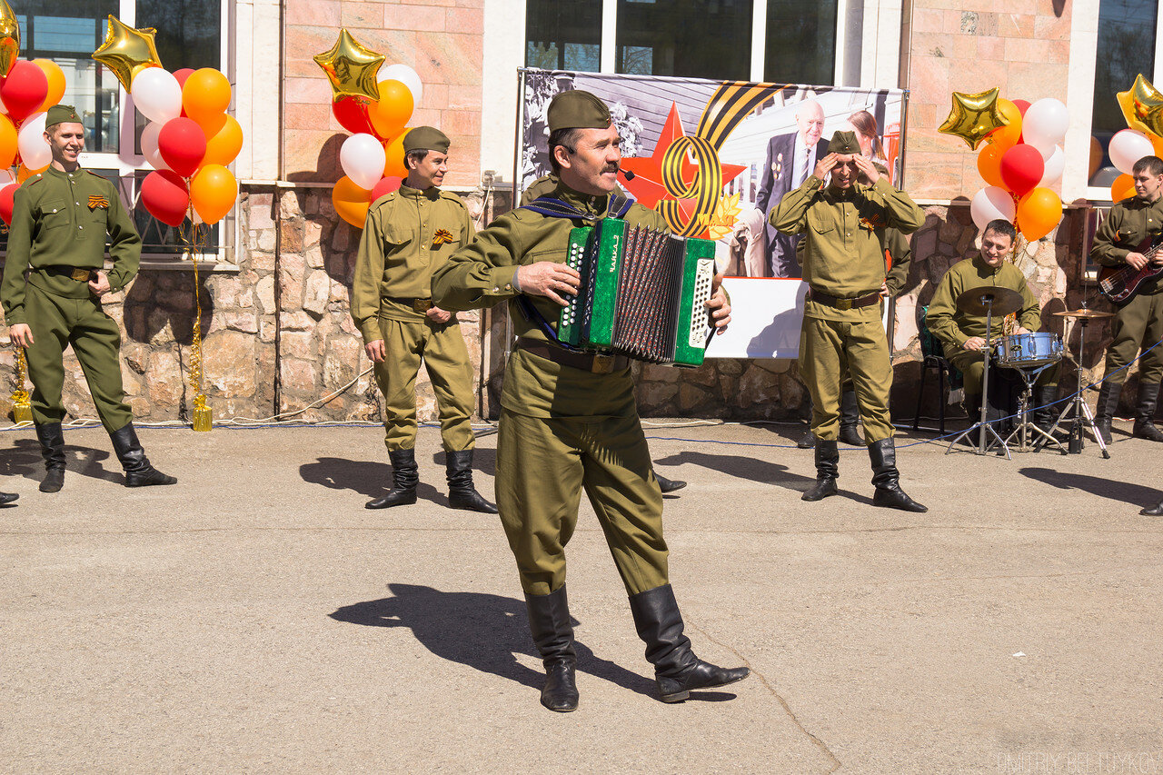 Паровоз победы в Перми 10 мая 2015