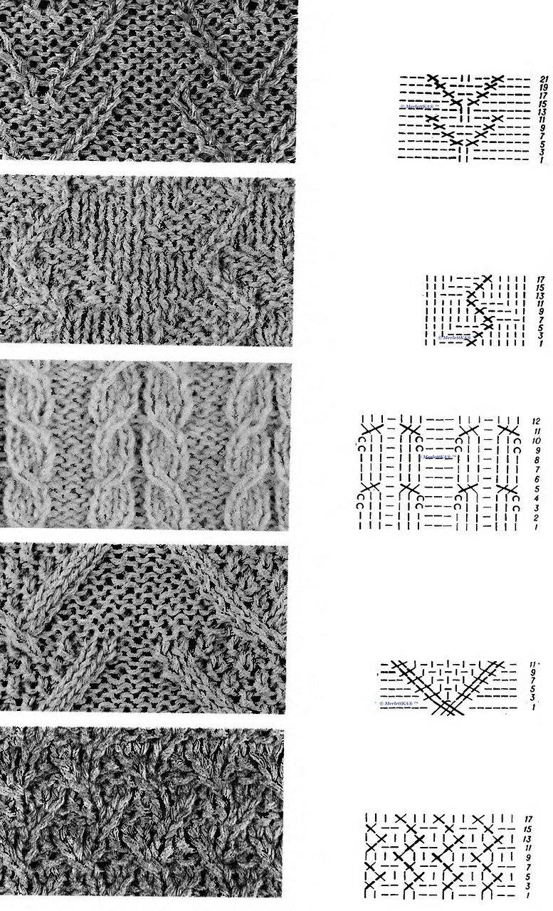 Все расшифровки схем для вязания спицами 508