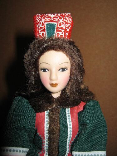 Куклы в народных костюмах №78 Кукла в якутском женском костюме