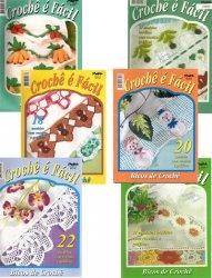 Журнал Croche e Facil - Bicos de Croche. 6 выпусков