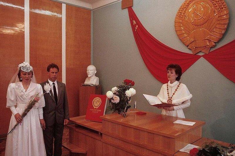 Черновцы. Свадьба в ЗАГСе. 1988 год.