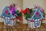 Подарочный домик из коробки с конфетами Рафаэло