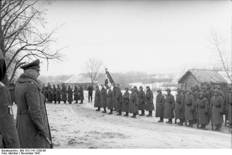 Russland-Mitte, Soldaten der franzцsischen Legion, Hans Gьnter v. Kluge