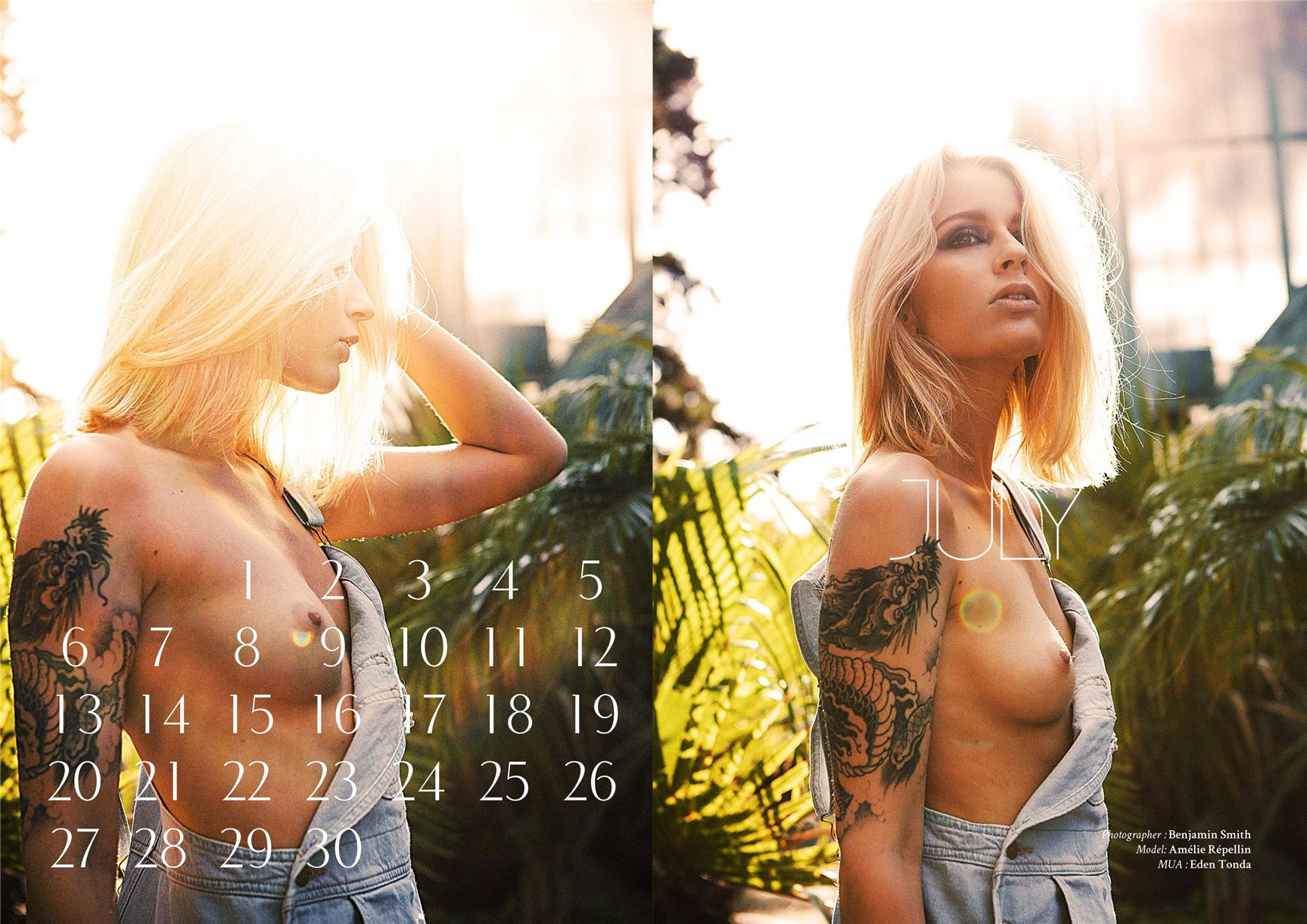 �����-������������� ��������� ������� Bizart 2015 calendar - Amelie Repellin by Benjamin Smith