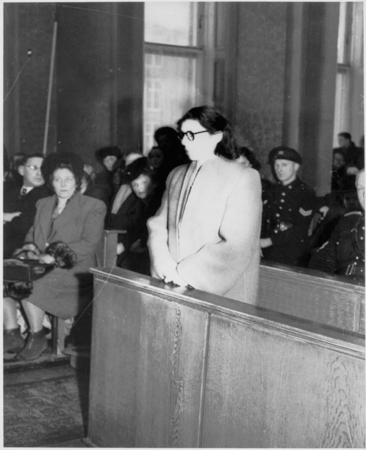 Анс ван Дейк перед Специальным судом в Амстердаме, февраль 1947 года