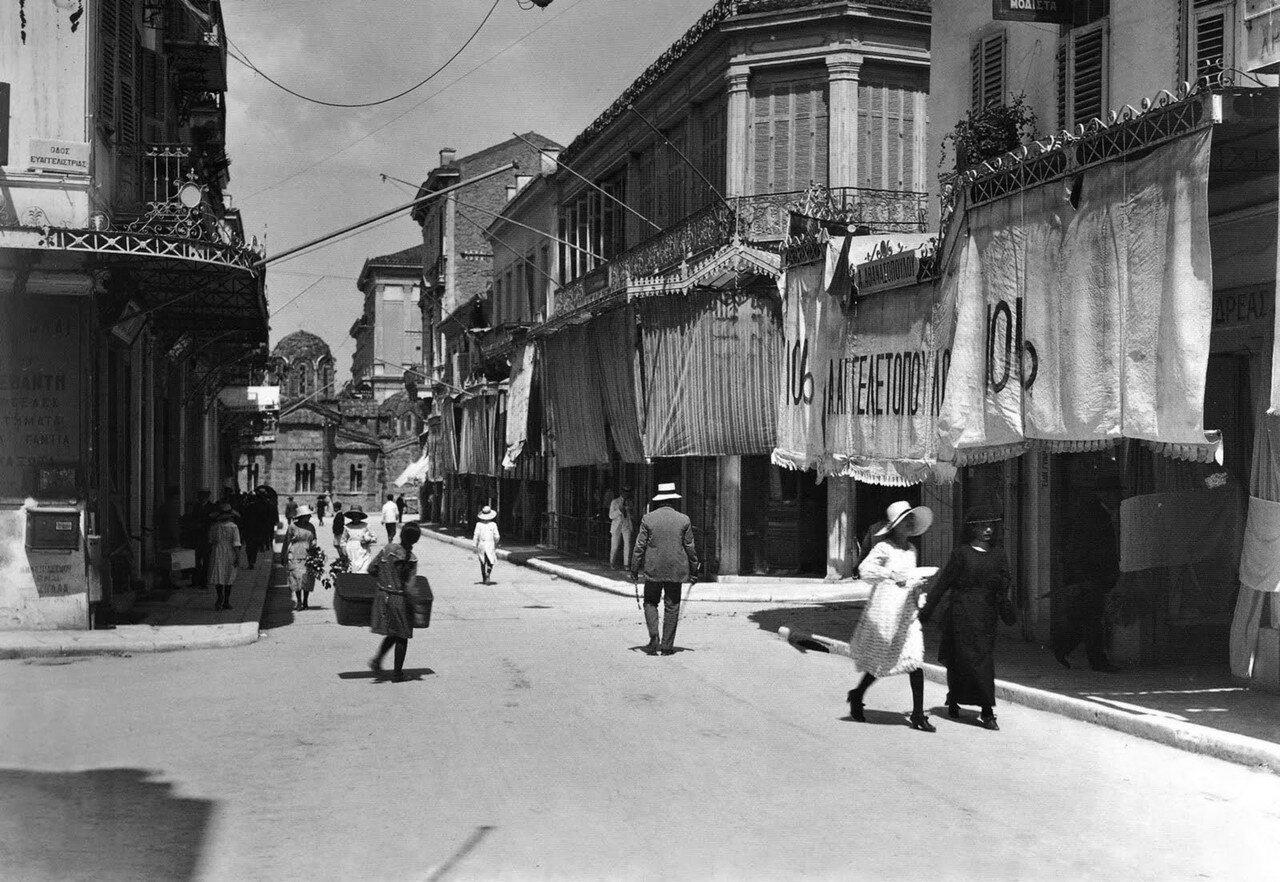 1920. Афины, торговая улица Эрму