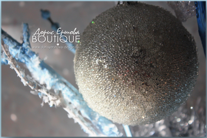 декор, новогодний декор, серебро, серебристый декор, фото ©Дорис Ершовой, декор в серебряных тонах, кукла катя, голубой, серебристый, белый, рождественский декор