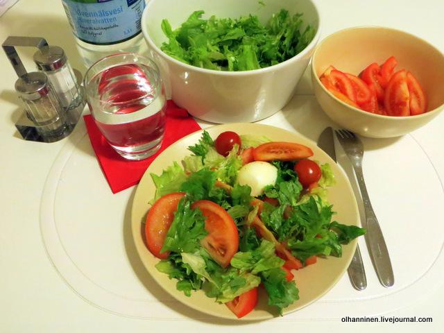 яйцо, помидоры, салат