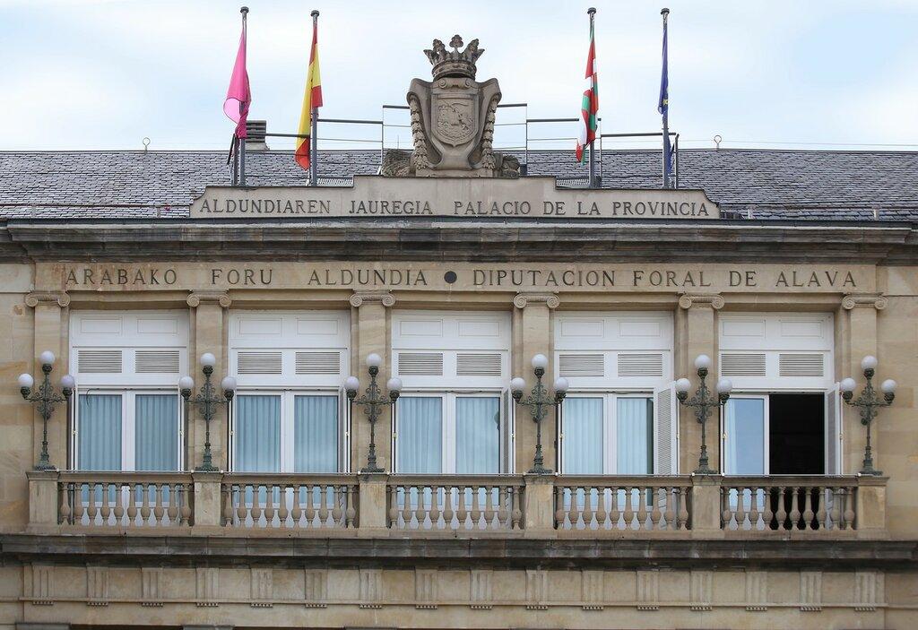 Vitoria-Gasteiz. The provincial square (Plaza de la Provincia). Palace of deputies of the province of álava (Palacio de la Diputación Foral de Álava)