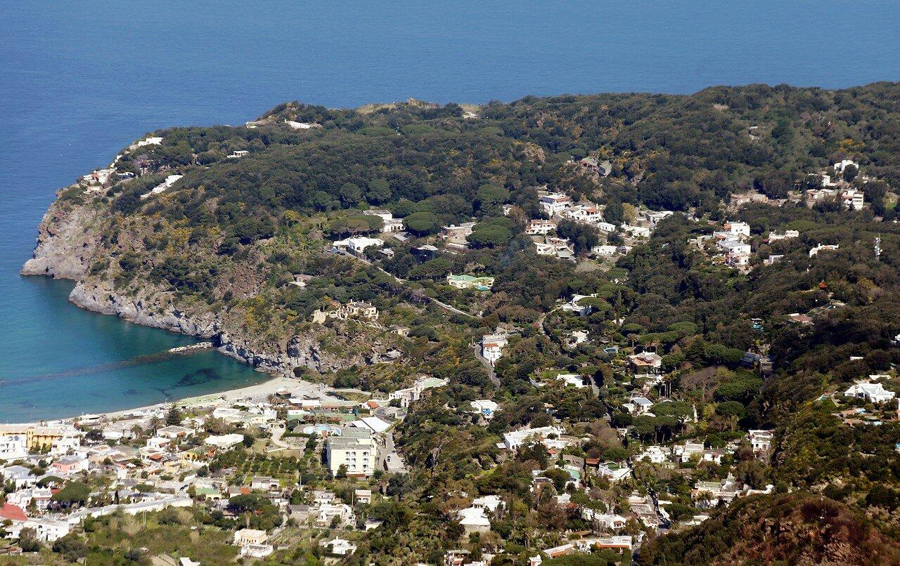 Ischia. Peninsula Caruso. View from Monte Epomeo.