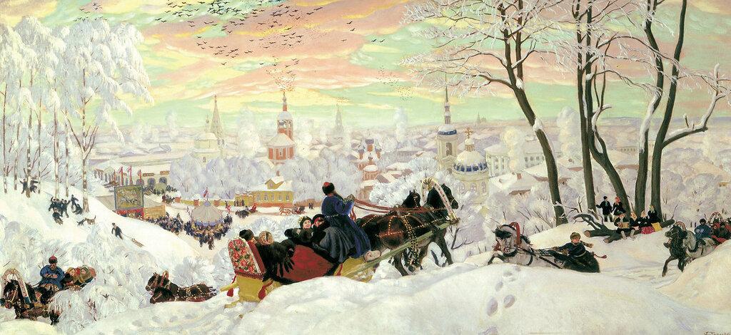 Борис Кустодиев - Масленица, 1916.