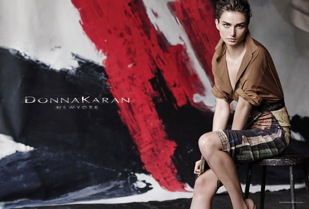 Андреа Дьякони (Andreea Diaconu) в рекламной фотосессии для Donna Karan