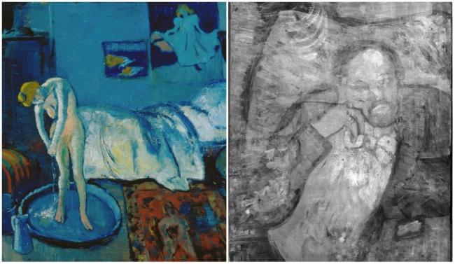 Пабло Пикассо, «Голубая комната», 1901 В2008 году инфракрасное излучение показало что под «Голубой