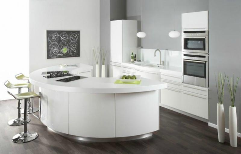 Белый цвет в интерьере кухни, фото 12