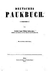Книга Deutsches Paukbuch.