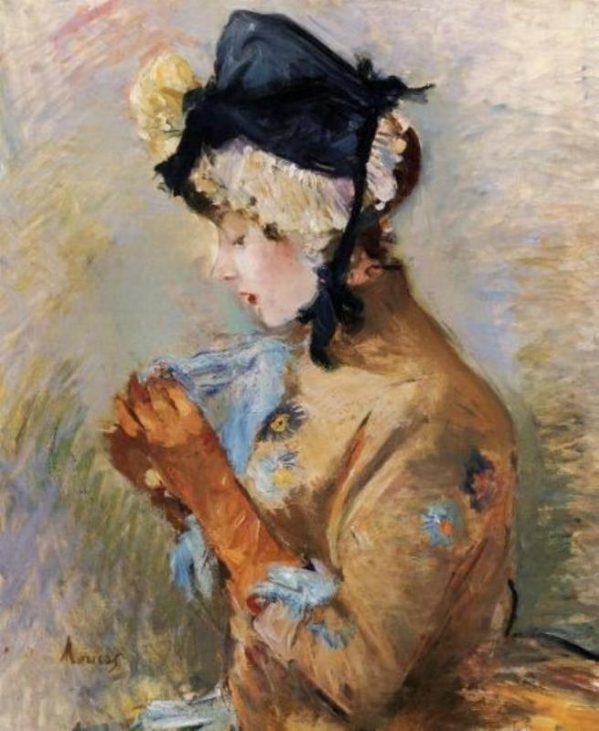 4 Berthe Morisot (1841-1895). Woman Wearing Gloves.jpg