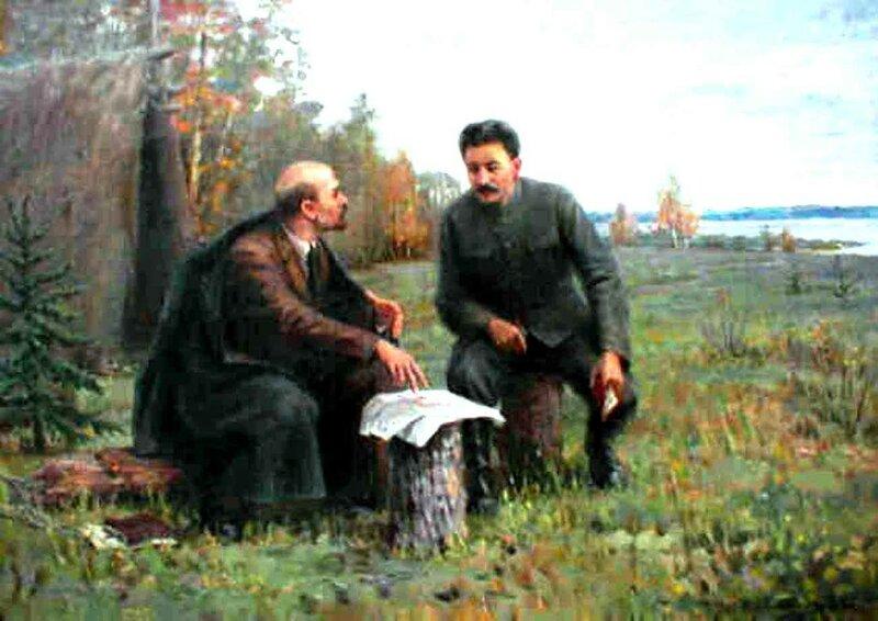 Ленин и Сталин в конце лета 1917 года в Разливе..jpg