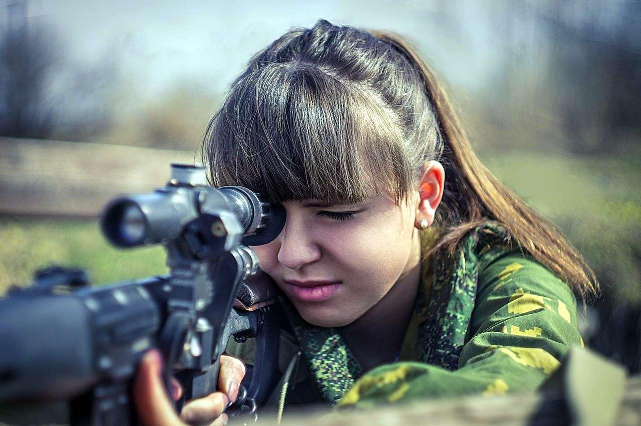 Боевые подруги: Фотосессия в стиле Military - лазертаг клуб - Отряд 61 - (Ростов-на-Дону) (8)