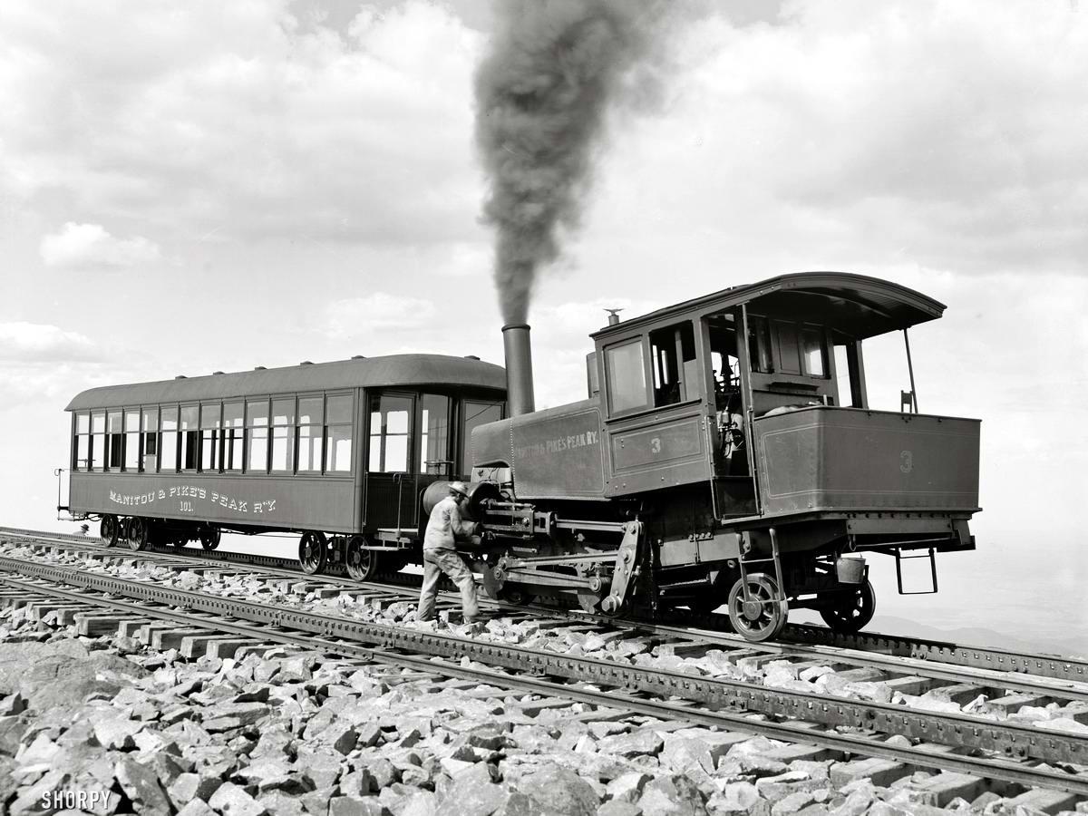 Железные дороги конца 19-го - начала 20-го века на снимках американских фотографов (21)