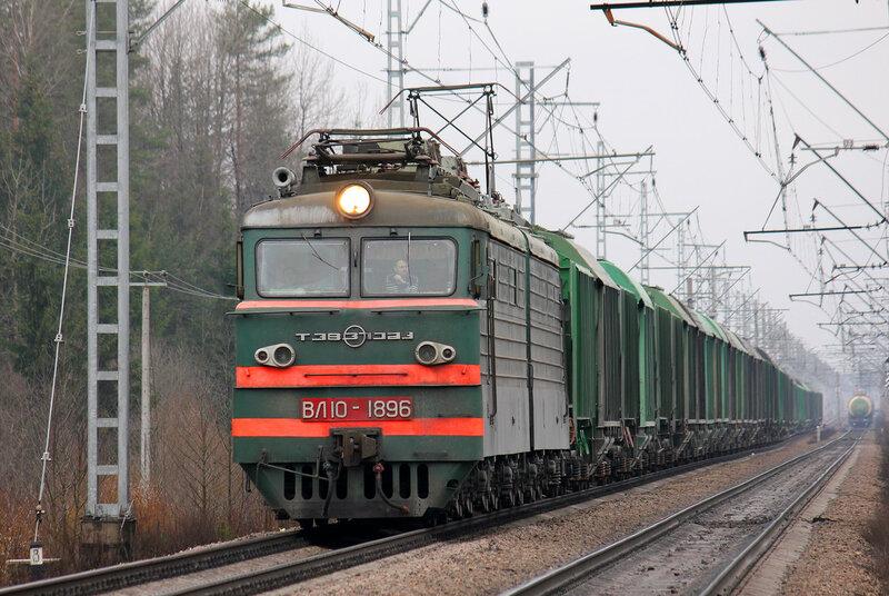 ВЛ10-1896 на перегоне Новолисино - Стекольный