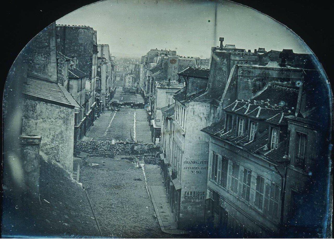 1848. Баррикады на улице Сен-Мор.После штурма 26 июня