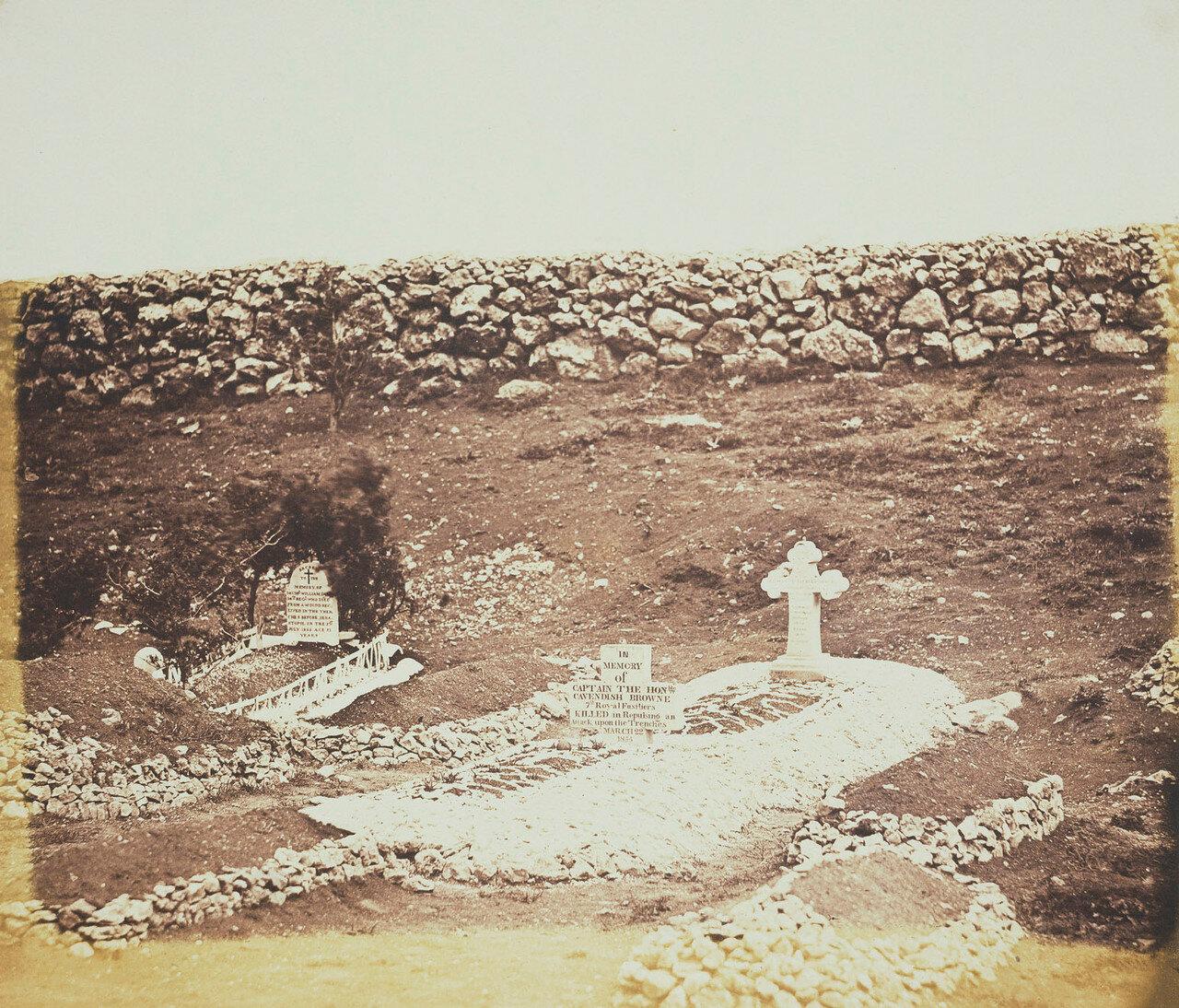 Могила капитана Кавендиша Брауна на кладбище легкой пехотной дивизии в районе Севастополя
