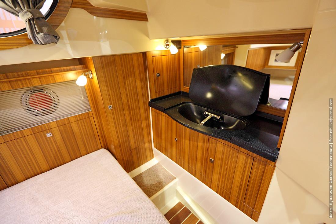 каюта фото московское боут шоу 2015 Marex 370 Aft Cabin Cruiser