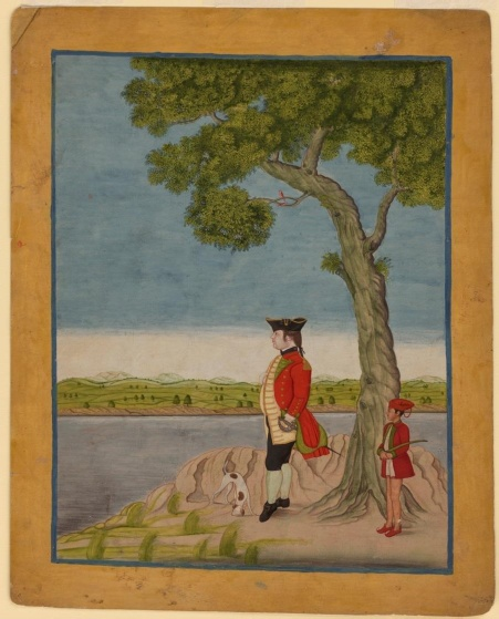 A Bengal army officer standing pensively by a river. 1770.jpg