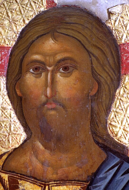 Христос Пантократор. Икона XIII века. Галерея икон в Охриде. Фрагмент.