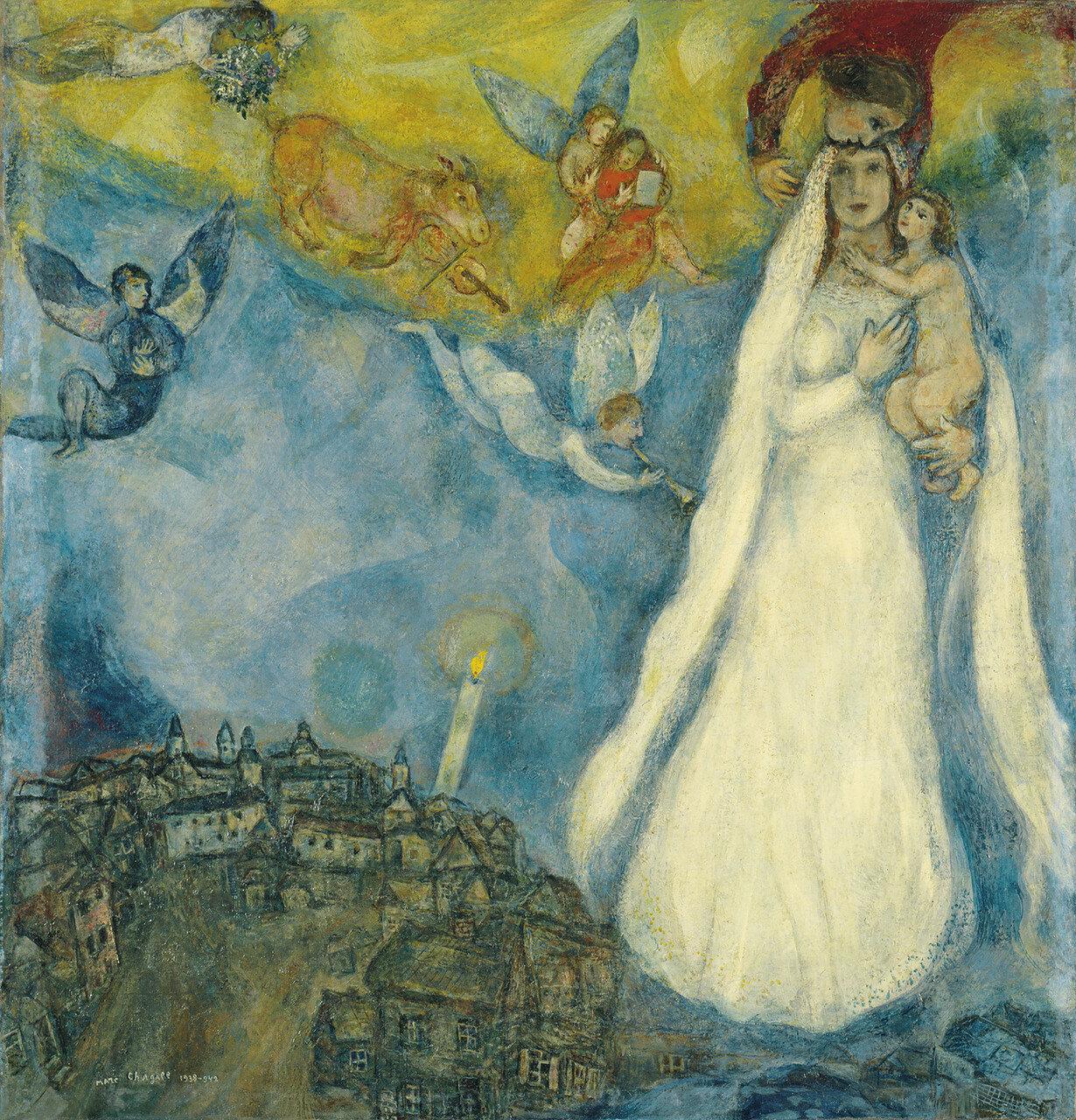 Шагал, Марк Захарович - Деревенская Мадонна, 1938-42, 102,5 cm x 98 cm, Холст, масло.jpg