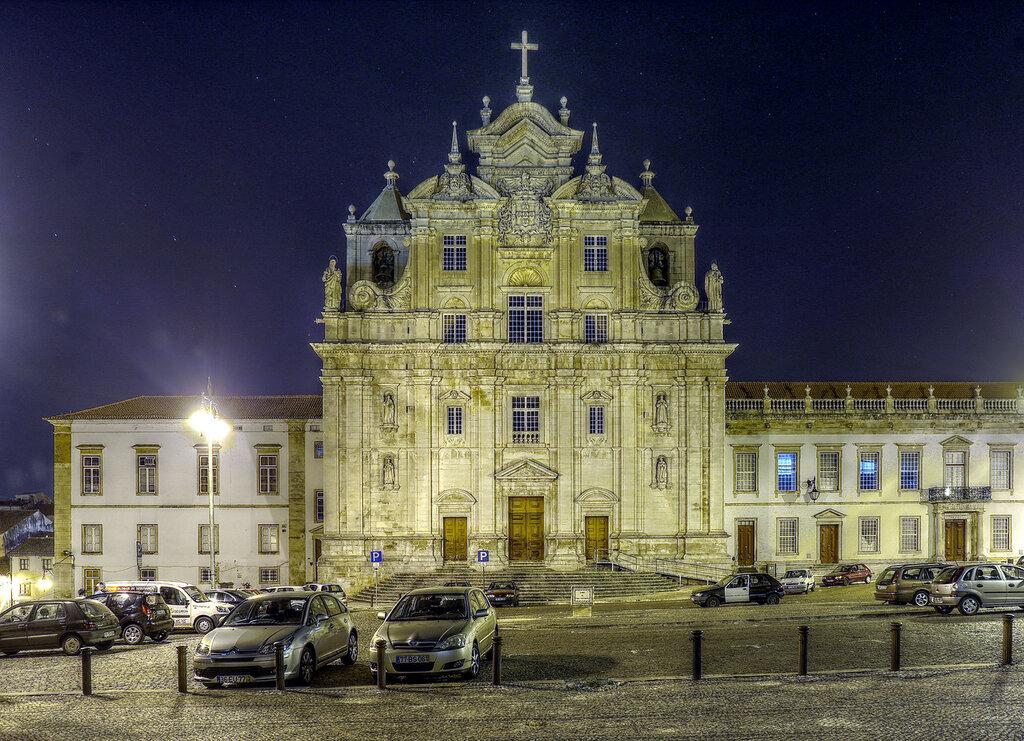 Ночная Коимбра. Новый собор (Sé Nova de Coimbra). HDR