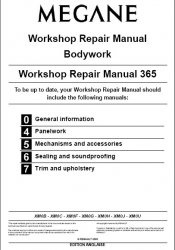 Книга Renault Megane Workshop Repair Manual and Bodywork. Workshop Repair Manual 365 update.