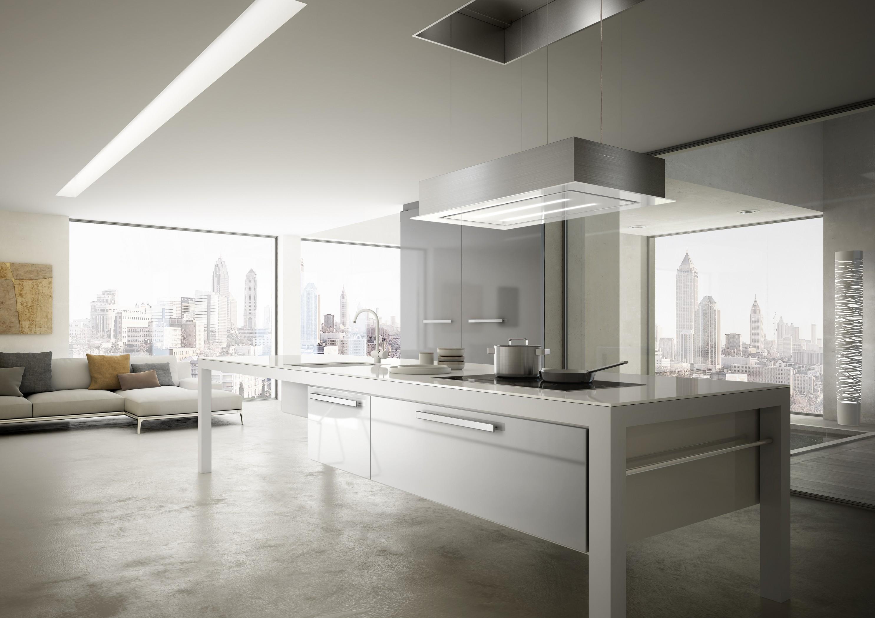островные кухонные вытяжки