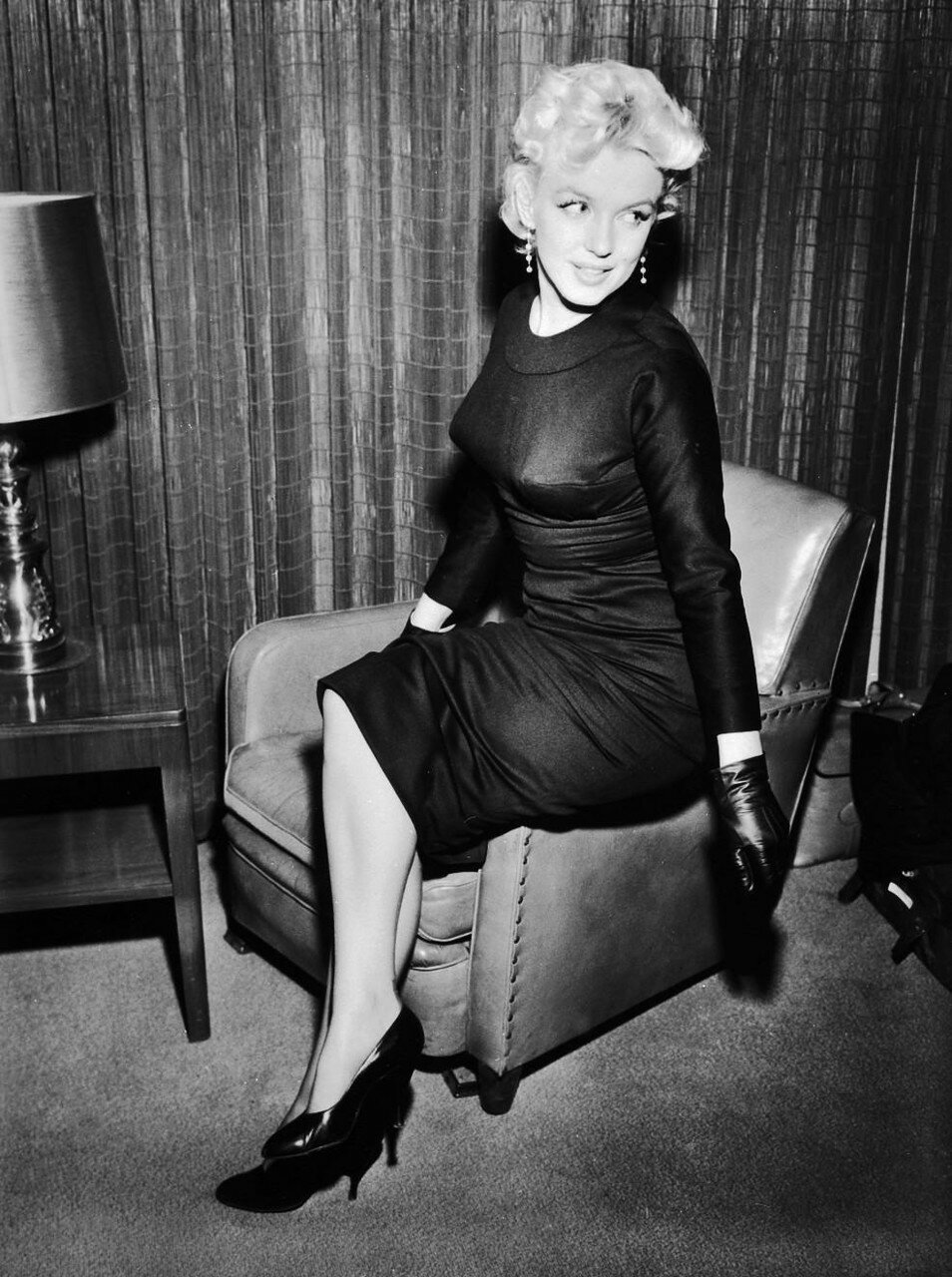 Marilyn Monroe Sitting on Chair