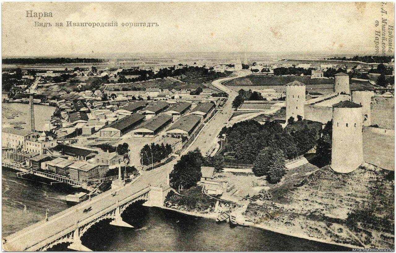 Вид на Ивангородский форштадт