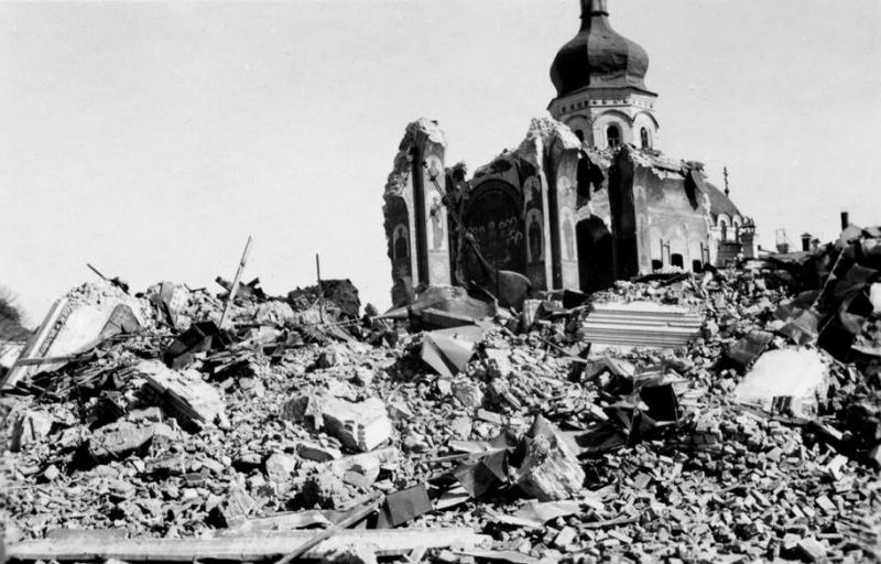Разрушенный Успенский Собор в Киеве