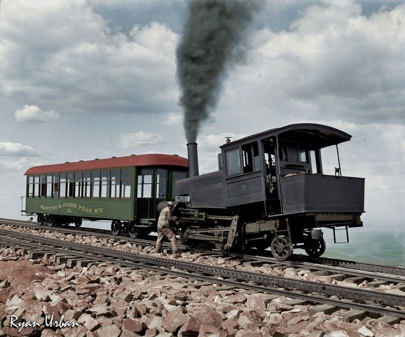 Cog Train to Pike's Peak, Colorado circa 1900.jpg