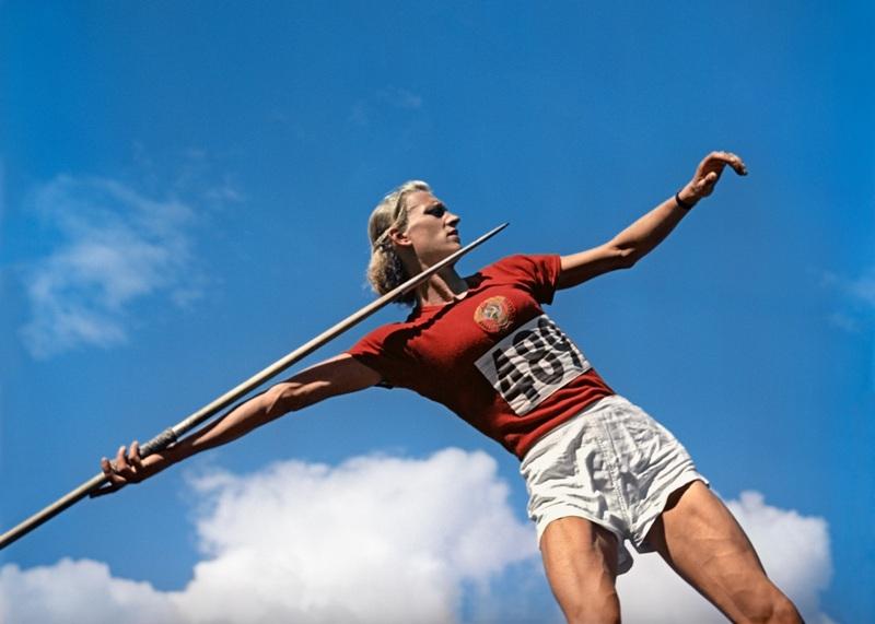1952 Александра Чудина, занявшая 2 место в состязаниях по легкой атлетике – копье. XV летние Олимпийские игры. Хельсинки Гаранин РИА.jpg