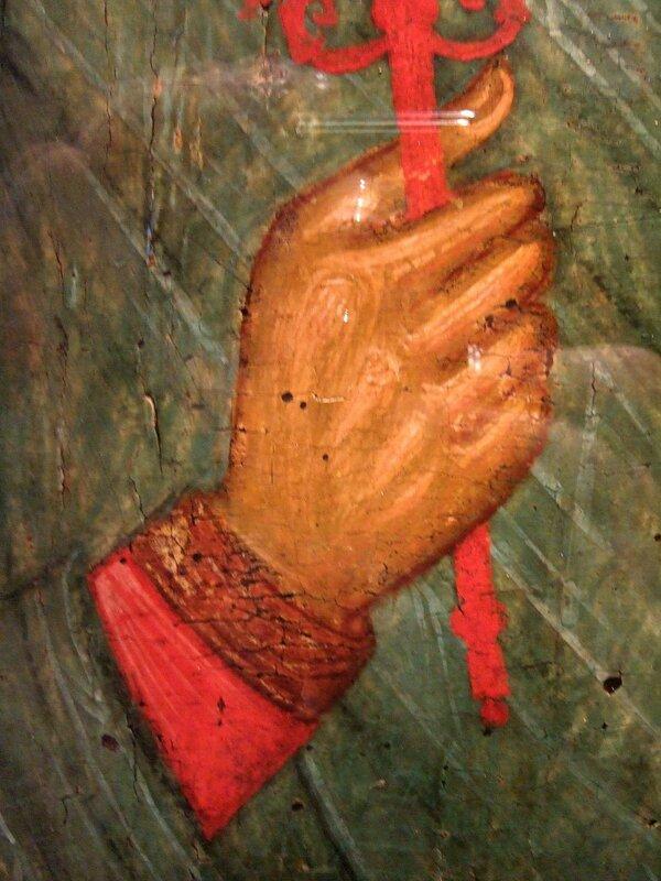 Святая Великомученица Анастасия Узорешительница. Икона. Византия, начало XV века. Фрагмент.
