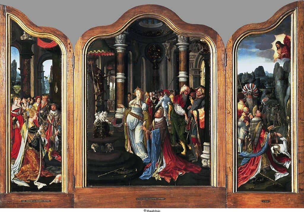 Meester van de Salomotriptiek - История Соломона, ок. 1521-25, 107,5 cm x 77 cm, Дерево, масло.jpg