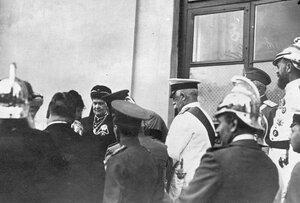 V съезд Императорского российского пожарного общества. Группа участников съезда (в центре великая княгиня Мария Павловна).