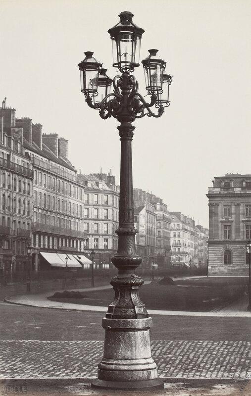 Газовый фонарь на Площади Отель-де-Виль. 1860