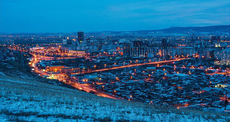Красноярск, вид с Караульной горы