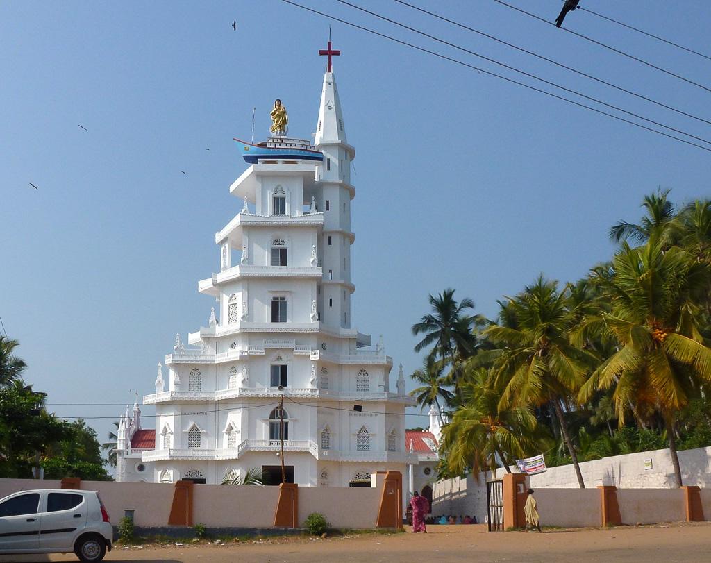 Фотография 6. Католический собор в деревне Вижинджам в Индии. Отзывы об отдыхе в Керале
