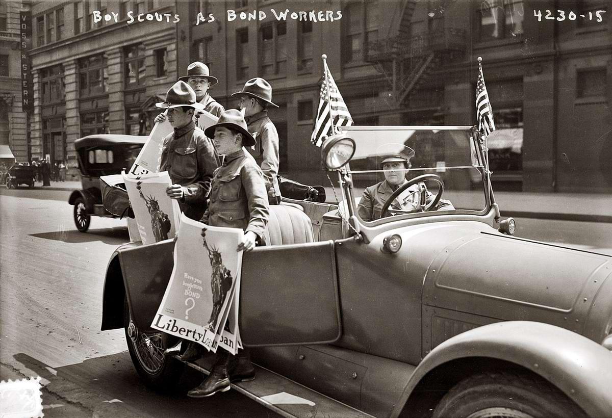 Американские бойскауты начала 20-го века на снимках фотографов (21)