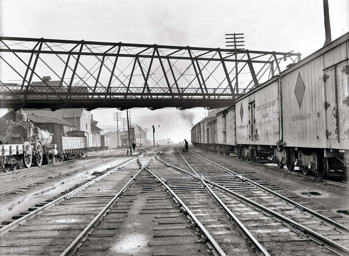 Железные дороги конца 19-го - начала 20-го века на снимках американских фотографов (28)