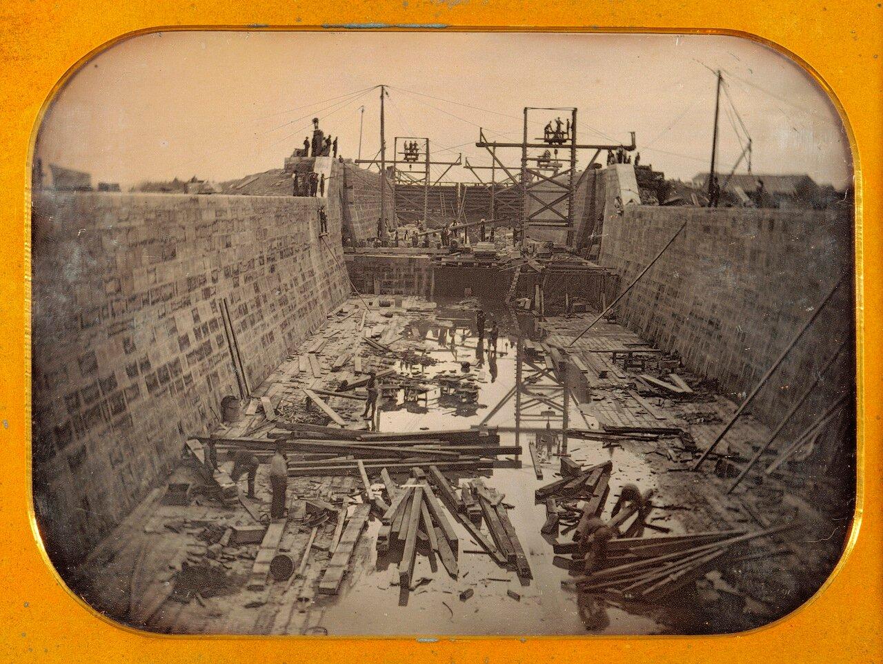 1849. Строительство неопознанного канала в восточной части Соединенных Штатов.