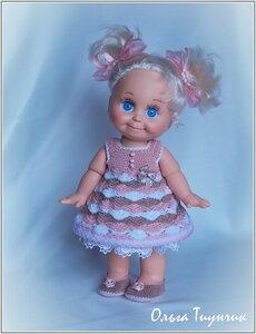Мастер класс платье для куклы крючком