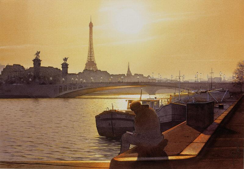 Le lecteur et le pont Alexandre III